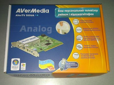 (Tuner PCI analog TV AverMedia 505, support Capture Video, remote control, New)