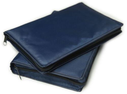 """Blue Vinyl Scripture Cover Case LDS Large Bible / Triple Set - 6.5"""" x 9.5"""" - NEW"""