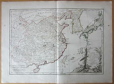 Lattre: Large Map of China Japan Taiwan Corea - 1787