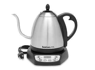Bonavita 1.0L Gooseneck Variable Temperature Electric Tea Kettle Stainless Steel
