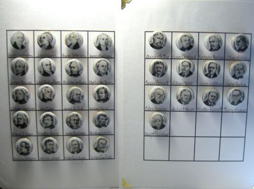 Full Set of Lois Calkins 33  Ceramic Presidents of the United States 1950