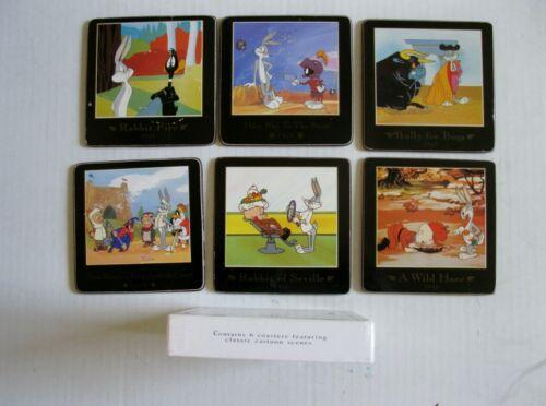 Set Of 6 1993/1992 Warner Bros Looney Tunes Classic Cartoon Coasters Bugs Bunny