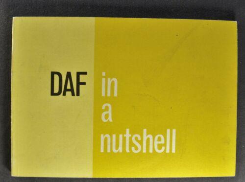 1960-1961 Daf Corporate Brochure Daffodil Bus Truck Military 4x4 Nice Original