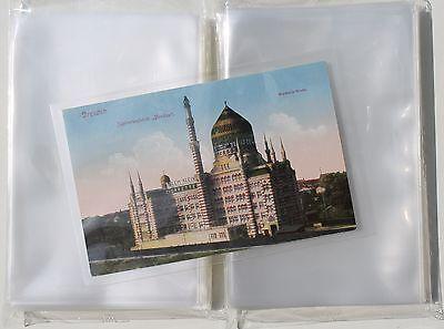 200 Ansichtskarten Fotos Postkarten Hüllen für alte AK NEU KLARSICHTIG 96x148 mm
