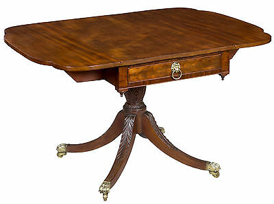 SWC-Mahogany Classical Drop Leaf Table, Phyfe or Contemporary, New York, c.1810
