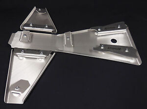 YAMAHA BLASTER 200 FRAME SKID & A-ARM SKID PLATE SET .125 BELLY PAN-AARM GUARDS