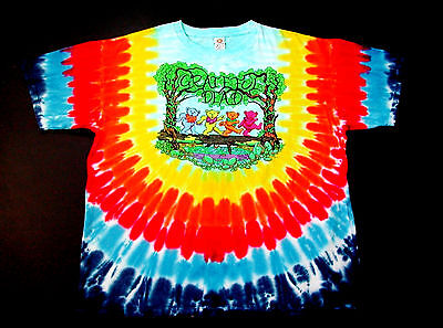 Grateful Dead Shirt T Shirt Dancing Bears Peace Forest Tie Dye 1997 GDM XL New