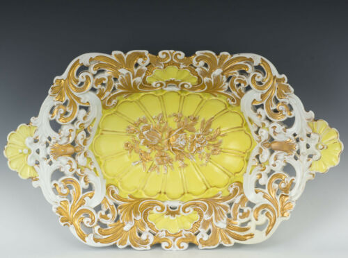 "Meissen Antique 14"" Reticulated Bowl"