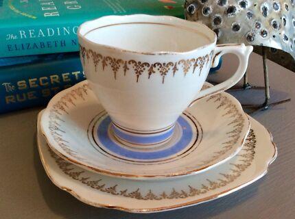 2x fine bone China teacups crazy tea set   Dinnerware   Gumtree ...