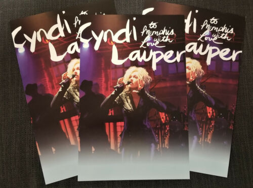 Dealer/FAN lot of 10 posters CYNDI LAUPER To Memphis with Love PROMO rare