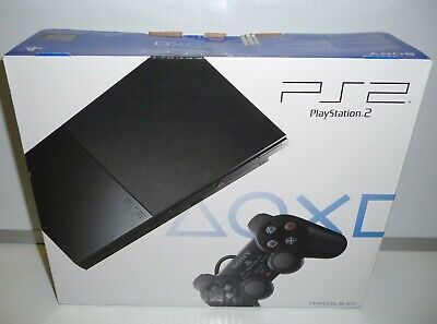 CONSOLE PLAYSTATION 2 PS2 SLIM CHARCOAL BLACK SCPH-90004 CB NEW PAL FACTORY...