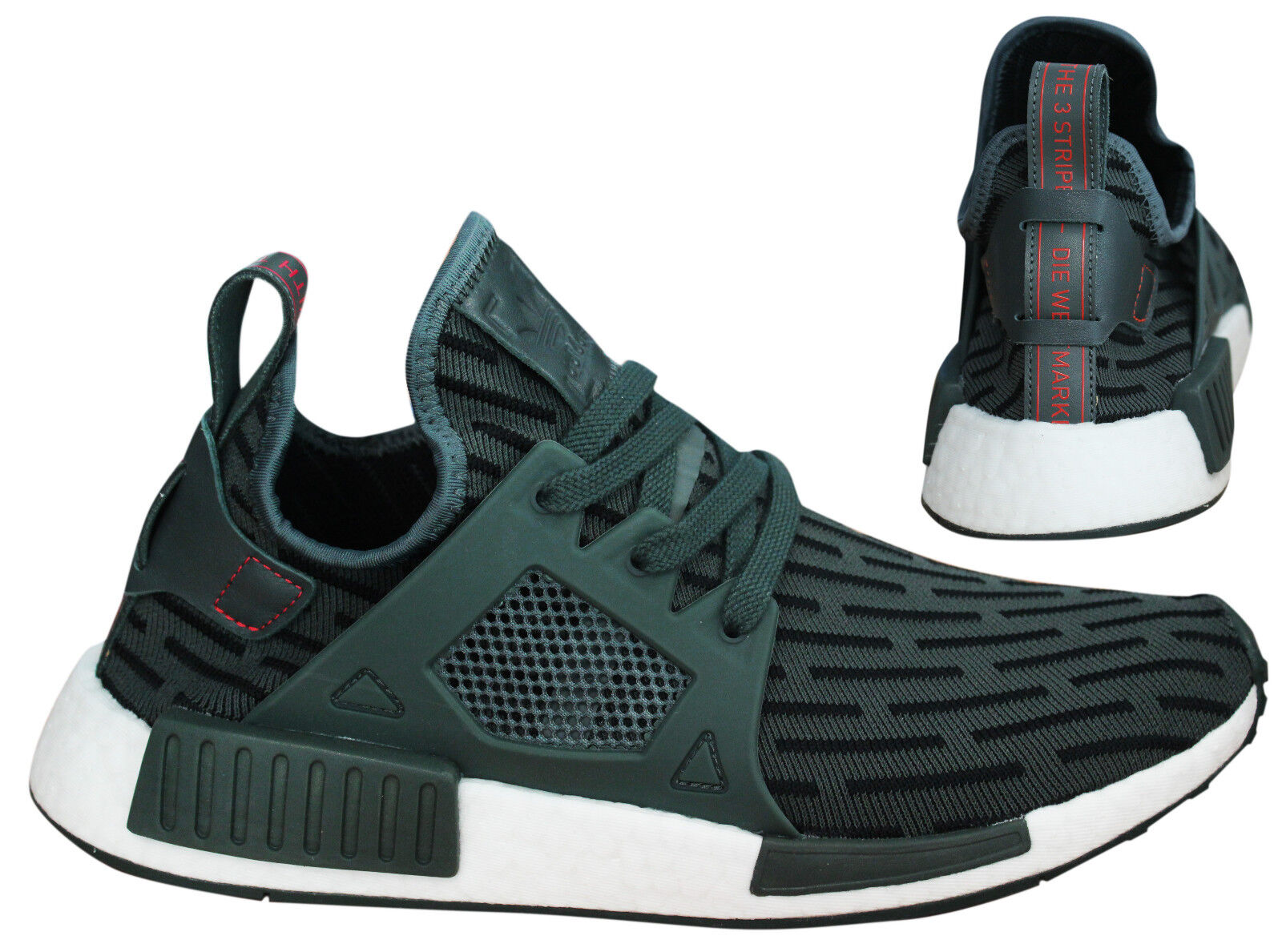 62e70bf382ac6 Adidas Originals NMD XR1 Primeknit Womens Trainers Lace Up Shoes ...