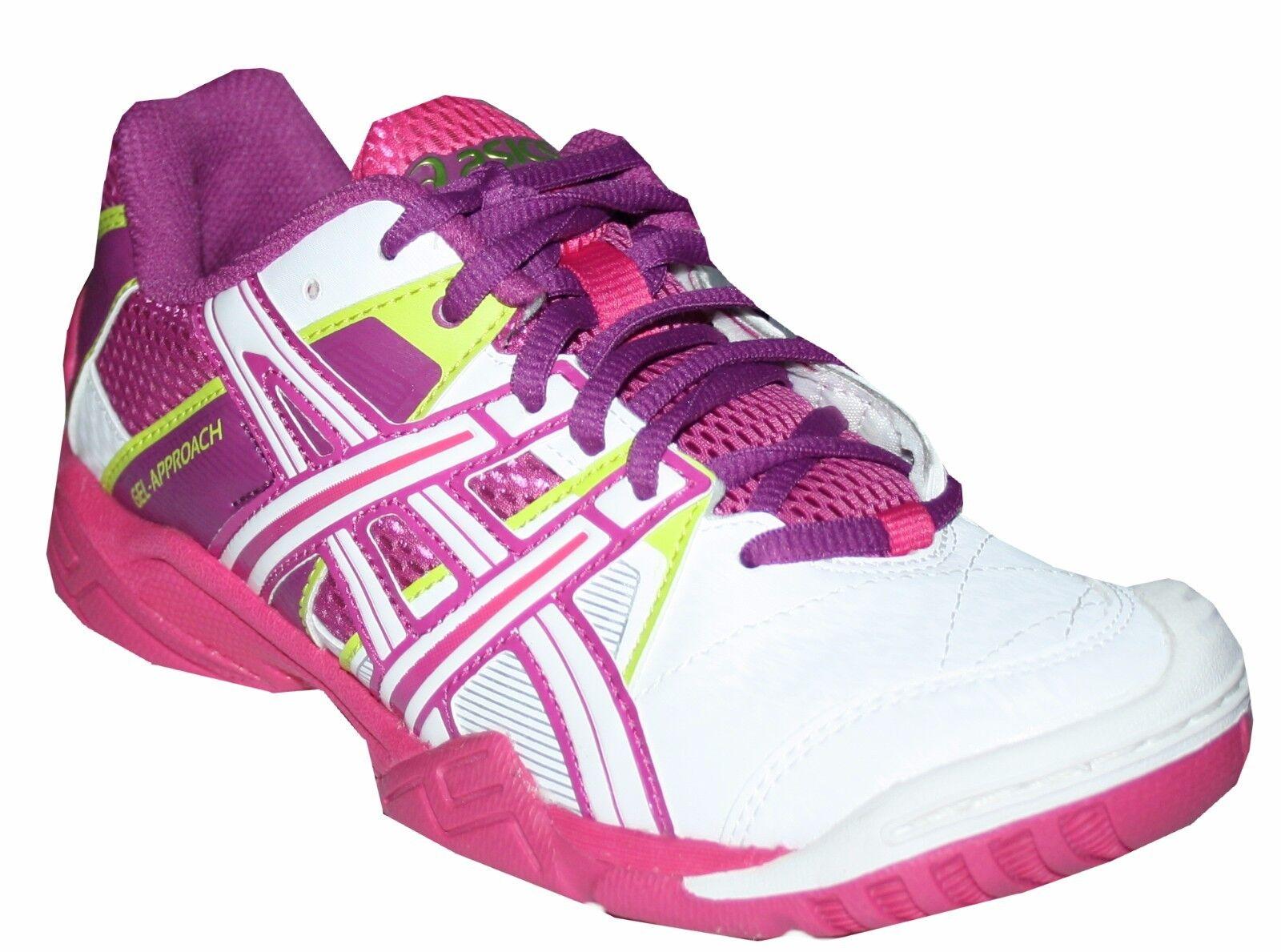 Asics Gel Approach 2 Damen Handball Schuhe Hallenschuhe Sportschuhe weiß/pink