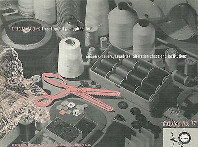 Ferris Woolen Company Catalog Sewing Threads Buttons Zippers 1954