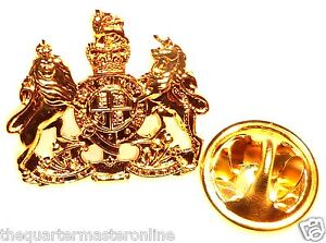 British Army WO1 Warrant Officer Class 1 Lapel Pin Badge