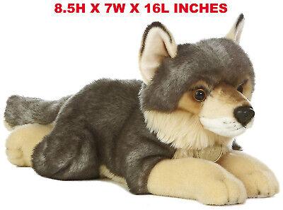 Realistic Gray Wolf Pet Plush, Kids And Children Stuffed Animal Doll Toy Gift (Stuffed Wolves)