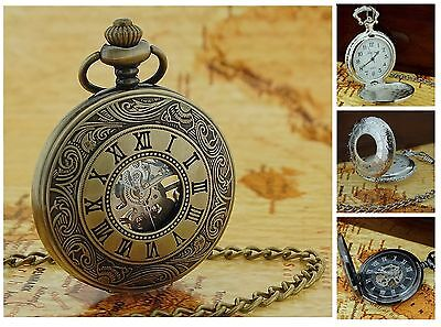 Jakob Strauss Antique Vintage Style Date Pocket Watch Chain xmas Gift For Him - Gold Tone Vintage Pocket Watch