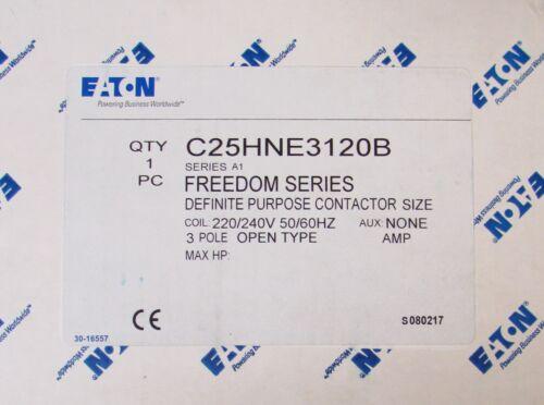 EATON CUTLER HAMMER C25HNE3120B 220/240V 3 Pole DP Definite Purpose Contactor