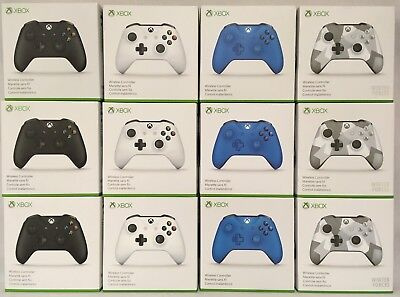 Official Microsoft Xbox One Wireless Controller   Black  Blue  Forces   More