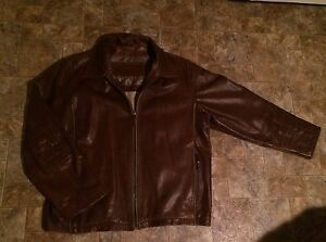 Real men's leather jacket