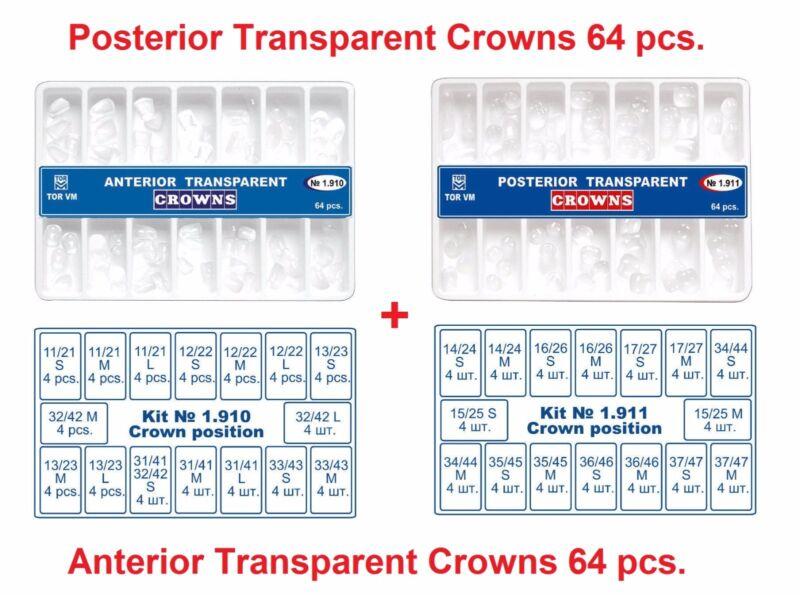 2X 64pc Dental Anterior Posterior Clear Transparent strip Crowns Matrices Matrix