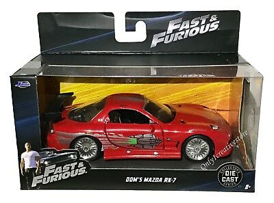 - JADA Fast And Furious Dom's Mazda RX-7 1:32 Red Diecast Car