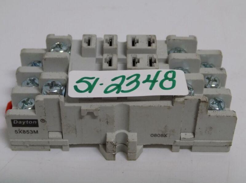 DAYTON 15AMP 300V RELAY BASE 5X853M