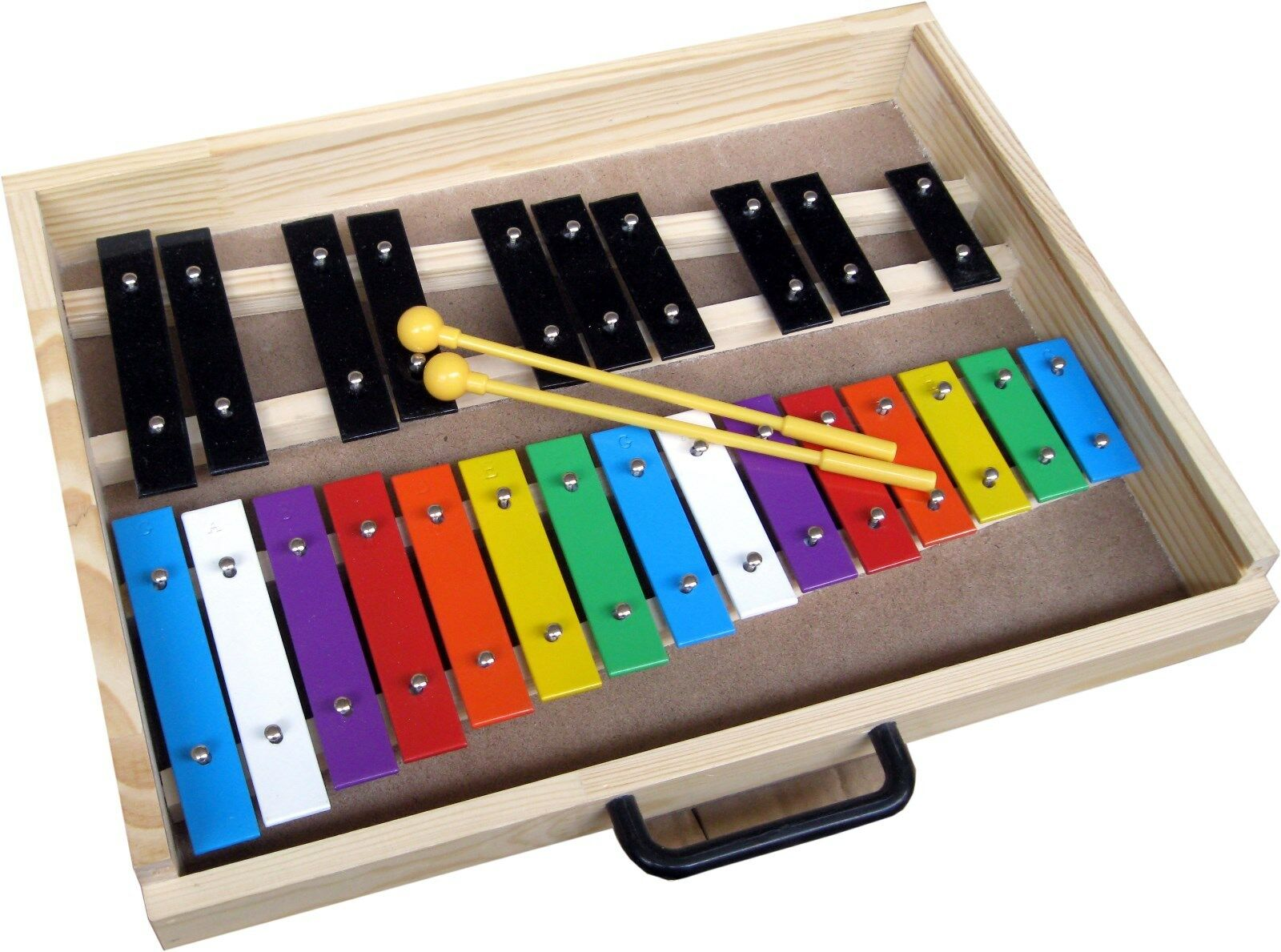 METALLOPHON IN DER BOX, Xylophon chromatisch, 25 BUNTE Klänge +2SOUNDEGGS GRATIS