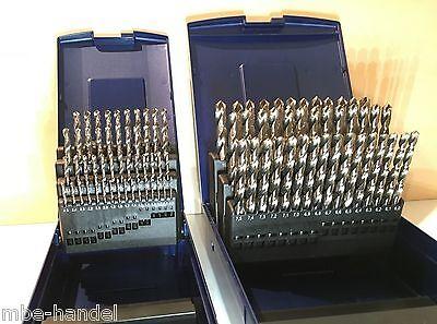 91 Spiralbohrer PTG 0,1mm steigend 1,0-10mm HSS-G Kassette Set Satz für Drehbank