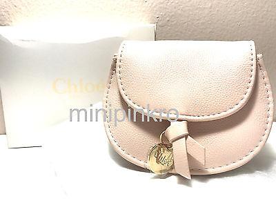 Chloe Parfum Pink Faux Leather MakeUp Bag Charm Pouch Magnetic Snap Purse NIB