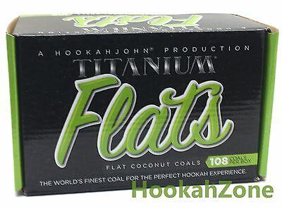 108 Pcs HJ Titanium Coconut Coal Hookah Charcoal Coco Nara 1