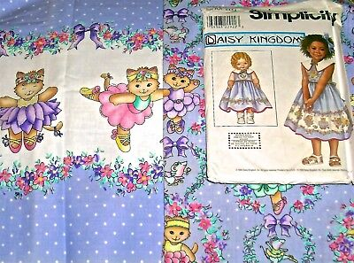 - DAISY KINGDOM Little Girl Dress Pack: HTF Vintage Cat Dance 3 3/4  yds.