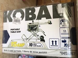 Kobalt 10inch 15amp table saw with stand - NEW