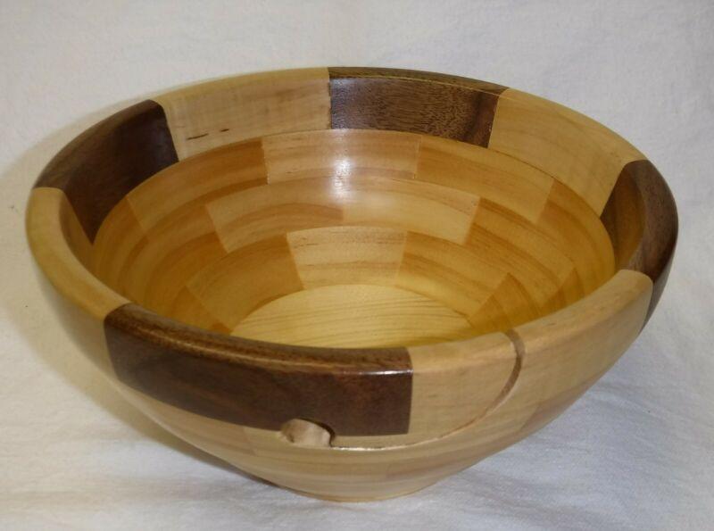 Unique Handmade Wooden Yarn Bowl