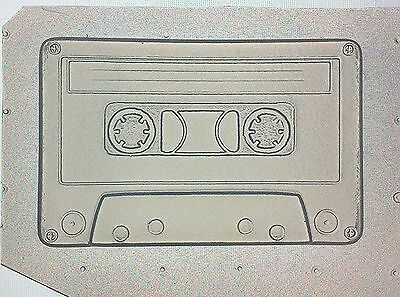 """Flexible Resin or Chocolate Mold Cassette Tape 4"""" X 1/4"""" Deep"""