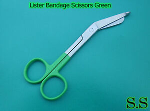 10-Bandage-Scissor-Green-Color-Handle-Paramedic-EMS-Nurse-Medical-Uniform-Supply