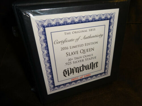 2016 The Slave Queen Statue 20  oz .925 Solid Silver 1st Production In Hand SBSS