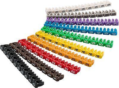 Kabelmarker-Clips Zahlen 0-9 10x10Stck für 2,5mm Kabel Goobay 72513 2,5 Mm Clip