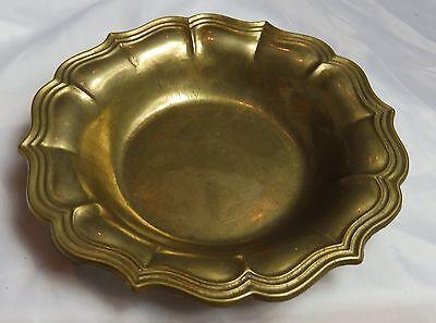 Alter Messing Teller Schale Messingteller Gilde Durchmesser ca. 23,5 cm