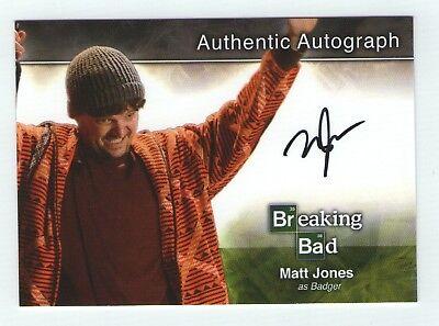 Breaking Bad seasons 1-5 autograph card A6 Matt Jones - Badger