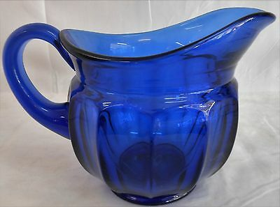 VINTAGE IMPERIAL GLASS OLD WILLIAMSBURG DARK BLUE 40 OZ. PITCHER