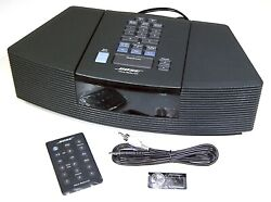 【SWEET】Bose Wave Compact Radio/CD Alarm Clock-REMOTE+iPod Cord!BlackGUARANTY