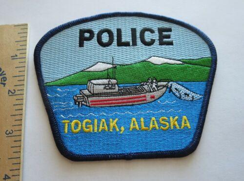 TOGIAK ALASKA POLICE PATCH Vintage Original
