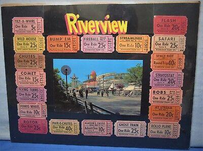 Riverview Amusement Park 1950S   Comet Roller Coaster   20 Tickets