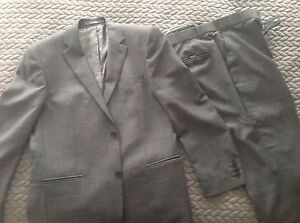 Tiny Checkered Grey 2 button suit for men Pierre Cardin