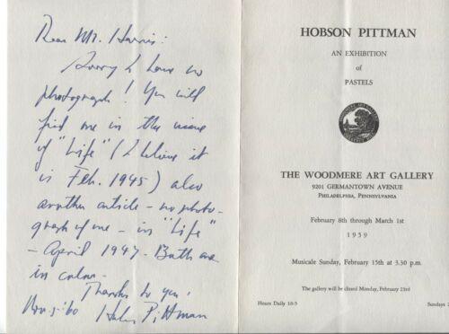 Hobson Pittman Signed Program Autographed Signature Artist Painter