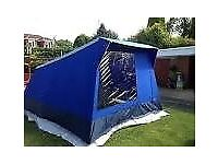 5 berth frame tent - 3 & 2 berth inner tents + full height living area - excellent condition - £90