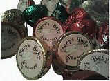 Personalized Hershey Kiss labels for favours as promotional item
