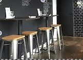 gorgeous industrial style bar stools