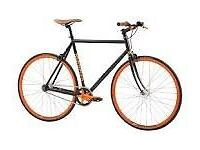 Bike for sale. Fixed gear mongoose with brakes orange and black